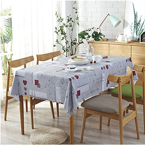 Mantel De PVC Moderno Y Simple, Impermeable Y A Prueba De Aceite, Tapete De Mesa Antiescarcha, Mantel De Mesa De Centro Rectangular Multifuncional