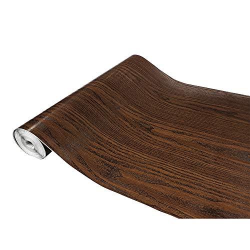 DecoMeister Klebefolie in Holzoptik Möbelfolie Selbstklebende Holzfolie Deko-Folie Holzdekor Selbstklebefolie 67,5x100 cm Natureiche Natürliche Eiche Dunkel