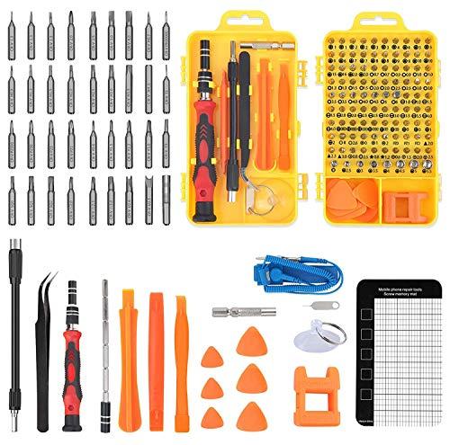 Kit de 117 en 1 Destornilladores Precisión Completo, Juego de Destornilladores de Precisión Profesional de Reparación para Móviles, Tablets, Gafas, Reloj, Cámara, Drones, Equipos Portátiles, etc
