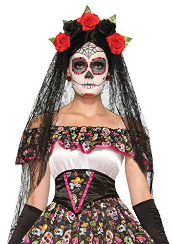Bristol Novelty 74922 Day of the Dead Veil, talla única