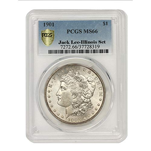 1901 American Silver Morgan Dollar MS-66 Illinois Set by CoinFolio $1 MS66 PCGS