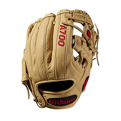 Wilson A700 Baseball Glove Series, Blonde, 11.25 Inch, Left (Right Hand Throw)