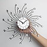 Timelike Crystal Wall Clock - Celebration Decorative Metal Wall Clock