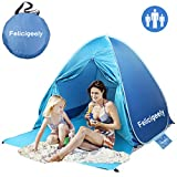 Felicigeely Beach Tent,UPF 50+ Portable Pop up Sun Shelter with Carry Bag,Automatic Instant Ba