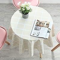 テーブルクロス 円形 直径140cm ビニール 撥水 テーブルカバー 北欧 おしゃれ PVC チェック柄 食卓カバー 汚れ防止 耐熱 雰囲気 新築お祝い 贈り物