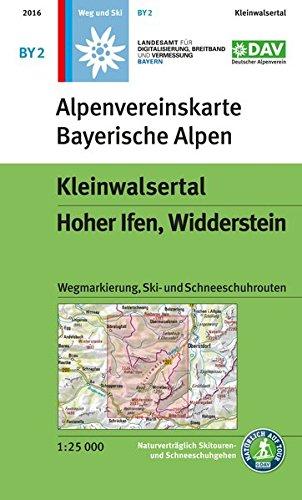 Kleinwalsertal, Hoher Ifen, Widderstein: Wegmarkierung, Ski- und Schneeschuhrouten