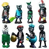 LLZZ Mini Juego de Figuras Decoración para Tartas, Plants vs Zombies Serie de Juguetes Show,Baby Shower Fiesta de cumpleaños Pastel Decoración
