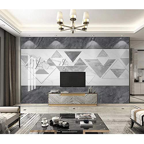 Papel pintado moderno minimalista Jazz blanco imitación mármol patrón estilo nórdico geométrico sala de estar TV pa Pared Pintado Papel tapiz 3D Decoración dormitorio Fotomural sala mural-350cm×256cm