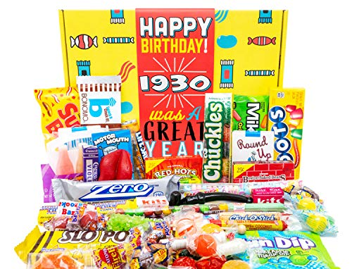1930 Was a Great Year 90th Birthday Candy Gift Basket