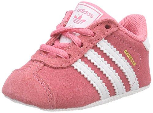 adidas Jungen Unisex Baby Gazelle Crib Hausschuhe, Pink (Rostiz/Ftwbla/Ftwbla 000), 17 EU