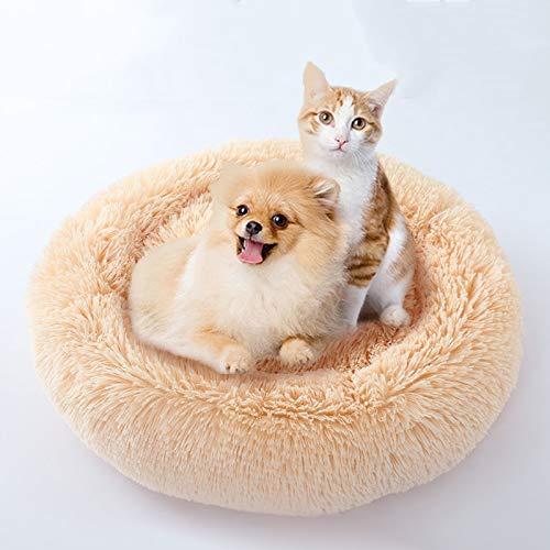 Opwarmende, pluizige, ronde hondenmatten Wasbaar kattenhuis Ademende loungebank voor kleine honden Superzachte pluche hondenhokken