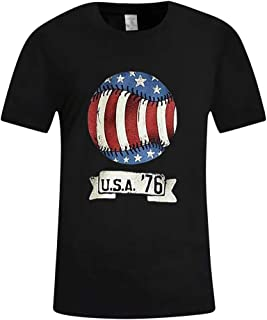 Unisex Creative Print Short Sleeve Crew Neck T-Shirt Casual Graphic Tee Independence Day!