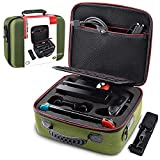 VORI Carrying Case for Nintendo Switch, Travel Storage Hard Shell Protective Portable Carry Bag with Shoulder Strap for Nintendo Switch Console & Accessories, Pro Controller, Green