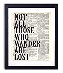 Not all who wander are lost wall art.