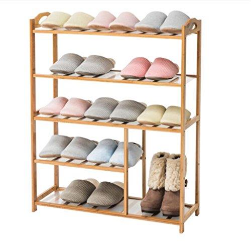 ZZYE Zapatero Rack de Zapatos 5 Niveles de Madera Almacenamiento de Madera Muebles Unidad Organizador de Zapatos Estante de bambú Estante de bambú (L) 70x (D) 25.5X (H) 88cm Perchero Zapatero