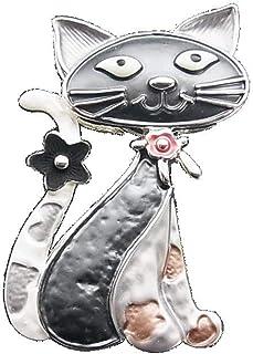 canviuk Brosche Katze niedliche Quaste Kette Katze PIN Kleidung Dekorationen Zubeh/ör