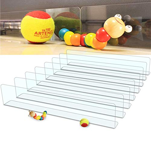 """QIYIHOME Under Couch Toy Blocker, Gap Bumper for Couch Sofa or Bed, Perfect for Under 3.2"""" Gap Filler, Strong Adhesive with Replacement Tape, Clear(8-Pack)"""