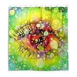 Eye View Bokeh Iris Close Up Duschvorhang, Stoffstoff, Badezimmer-Dekor-Set mit Haken, 183 cm lang