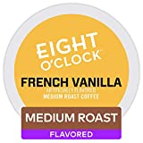 Eight O'Clock Coffee French Vanilla, Single-Serve Keurig K-Cup Pods, Flavored Light Roast Coffee, 48 Count