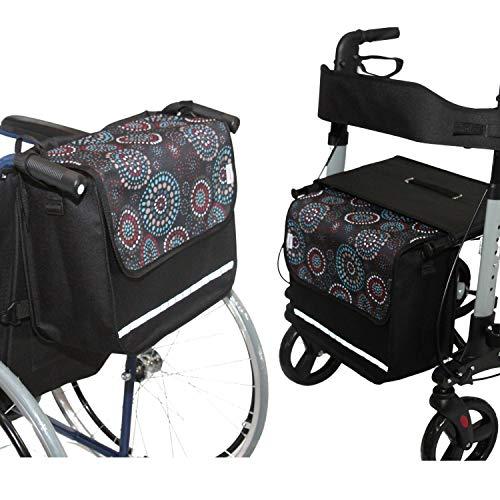 SENIORI Rollator/Rollstuhl Tasche Rollatortasche Rollstuhltasche Universal (1. Kreise)