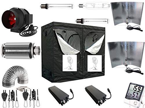 Generieke Growbox complete set 2 x 600 W NDL Eco 240 x 120 x 200 cm 2 x 660 Watt Adjustable Wing