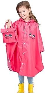 Impermeabile Pioggia Bambino Tophappy Raincoat con Cappuccio per 1-5 Anni Bambini Impermeabile Antipioggia Poncho Divertente Leggero Unisex