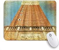 VAMIX マウスパッド 個性的 おしゃれ 柔軟 かわいい ゴム製裏面 ゲーミングマウスパッド PC ノートパソコン オフィス用 デスクマット 滑り止め 耐久性が良い おもしろいパターン (ヴェネツィアイタリア建築)