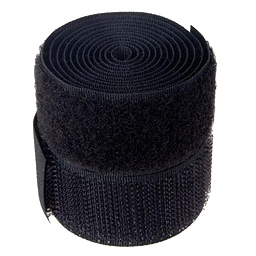 SSKR Imported 1 Inch X 1 Yard Sew-on Hook and Loop Tape - Black