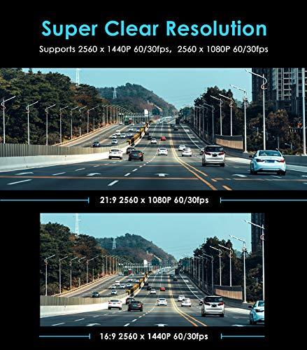 VIOFO A119 V3 Dash Cam 2K 2560x1600P Quad HD+ Car Dash Camera IMX355 5MP Sensor, 140-Degree Wide Angle, GPS Included, Buffered Parking Mode, HDR, Motion Detection, G-Sensor, Time Lapse