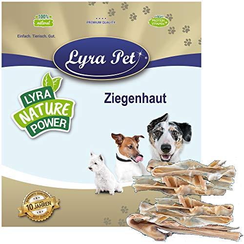 Lyra Pet® 1 kg Ziegenhaut getrocknet Kausnack Kauartikel Leckerli Kauspaß Belohnung Hundefutter Hund