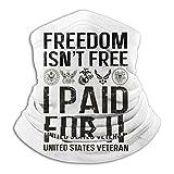 La Libertad no es Gratis Pagué por ello Veterano de Vietnam Unisex Bandanas sin Costuras Mascarilla Cuello Polaina Diadema Bufanda