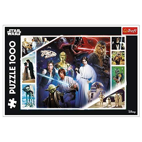 Trefl 10625 In einer weit entfernten Galaxis, Star Wars 1000 Teile, Premium Quality, für Erwachsene und Kinder ab 12 Jahren Puzzle, mehrfarbig