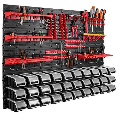 115 x 78 cm Wandregal 30 Sichtlagerkästen Deckel Werkzeughalter Stapelboxen Werkstatt Werkbank