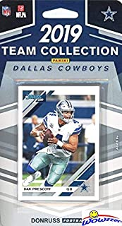 Dallas Cowboys 2019 Donruss NFL Football Limited Edition 12 Card Complete Factory Sealed Team Set with Dak Prescott, Ezekiel Elliott, Amari Cooper, Troy Aikman & Many More Stars & Rookies! WOWZZER!