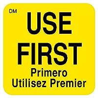 "DayMark Safety Systems IT110086 DissolveMark 「USE FIRST」溶解可能ラベル 1ロールあたり1インチ×1インチ 500枚 1"" x 1"" IT110086 1"