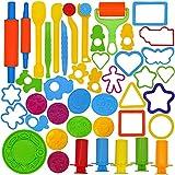 JOYIN Herramientas de Plastilina 44 Piezas Moldes Juguetes Educativos Juego de Imitación para Niños Bebé Regalo Cumpleaños
