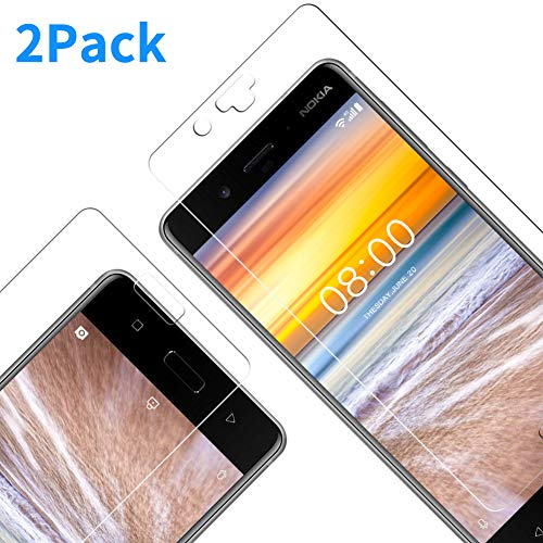 Pellicola Protettiva Nokia 8, Vkaiy Pellicola Vetro Temperato Nokia 8 [Durezza 9H] [Alta trasparente] [Nessuna bolla] [Anti-impronte] [ Antigraffi] - [2 Packs]