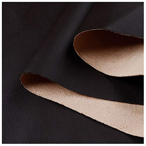 Tela de Cuero Sintético Cuero Sintético Resistente Tela de Cuero de Vinilo Tapicería Material Texturizado - Negro 100cm X 138cm (Size : 1.38x40m)