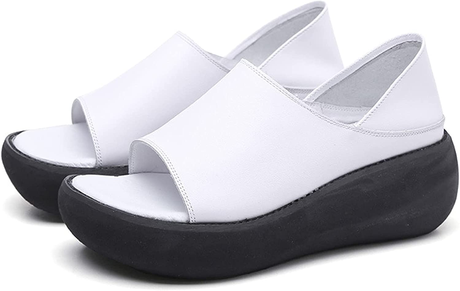 Platform Sandals for Woman Vacation Minneapolis Mall Super popular specialty store Open Slip Leather On Lad Toe