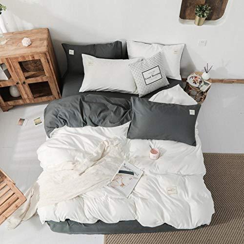 Textiles para el hogar Juego de Ropa de Cama espesante de Invierno Juego de Cama Verde Oscuro 3-4 Piezas Funda nórdica Queen King + Sábana Plana + Funda de Almohada Ropa de Cama
