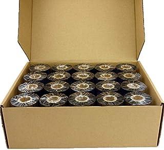 3R X Premium Resin Wax 110mm × 300 م الشريط الحراري الطابعة للطابعة زيبرا للحيوانات الأليفة/PP/PVC/ساتان تسمية العلامة الط...