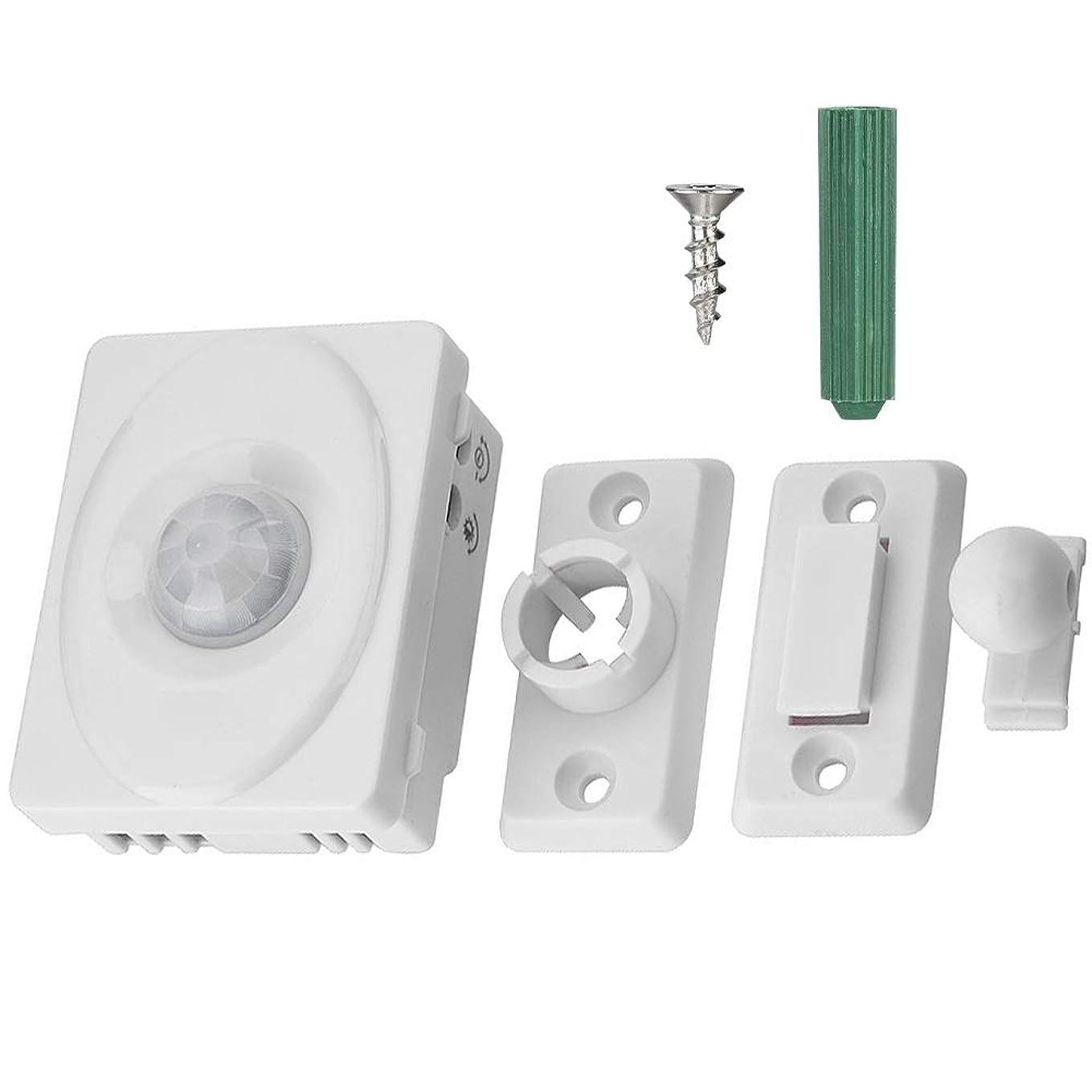 資本主義急流借りる人感センサー光りセンサー赤外線壁自動スイッチ LEDライト12V用 玄関 台所 廊下 トイレ PIRモーションセンサースイッチ