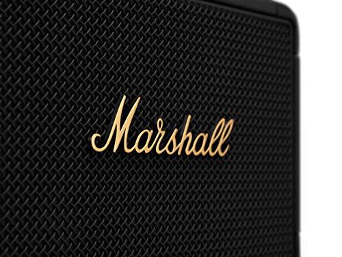 MarshallOfficialワイヤレスポータブルスピーカーKILBURNIIブラック&ブラス連続再生20時間/IPX2防滴仕様/急速充電/aptX対応【国内正規品】