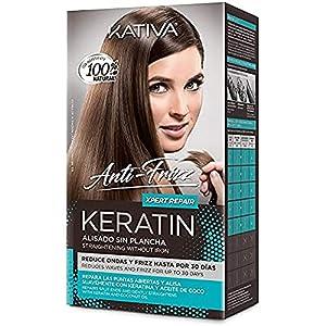 KATIVA Keratin Anti-Frizz Alisado Sin Plancha Repara Puntas 30 Días 200 g