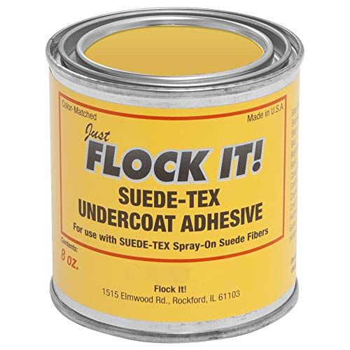 Suede-Tex Undercoat Adhesive - Bright Red - 8 OZ Can