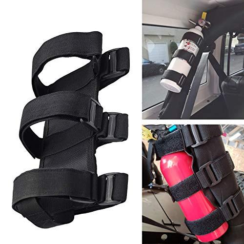 Linkstyle Jeep Fire Extinguisher Mount Holder 3 lb, Adjustable Roll Bar Compatible with Jeep Wrangler, Unlimited, CJ, JK, JKU, JL, JLU, TJ, Rubicon, Sahara, Sport