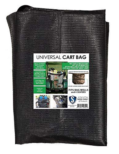 Club Clean Universal Cart Bag - Buggie Bag - Cargo Bag for 2 Seater and 4 Seater Golf Carts - Golf Cart Storage Bag - Golf Car Bag - EZGo, Club Car, Yamaha, Easy Attach Golf Cart Grocery Shopping Bag