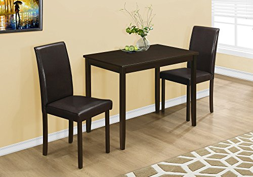Monarch Specialties , Dining Set Set, Parson Chairs, Cappuccino, 3pcs