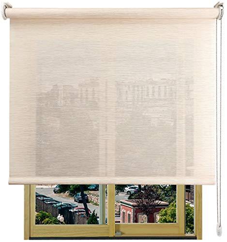 EB ESTORES BARATOS Estor Enrollable Bambú-Decor/Tamizador de luz con Transparencia y Textura del bambú. Elija su Medida de Ancho x Alto. Color: Bambú Blanco. Medidas: 156cm x 240cm
