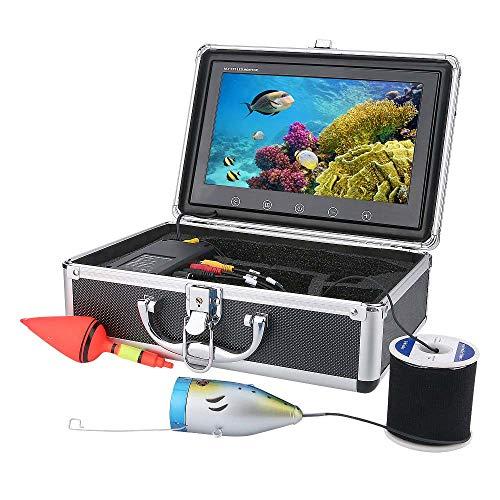 XINTONGSPP Buscador de Peces subacuáticos, HD 9 Pulgadas 1000tvl Monitor de Color Monitor de Color bajo el Agua Kit de videocámaras, WiFi Wireless admite grabación de Video y Tome la Foto,20m